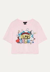 Bershka - Print T-shirt - pink - 0