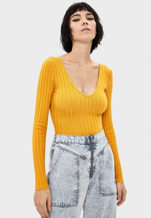 Strickpullover - mustard yellow