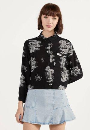 MIT PRINT  - Button-down blouse - black