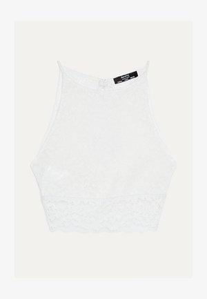 MIT SPITZE  - Top - white