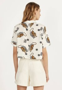 Bershka - Button-down blouse - white - 2