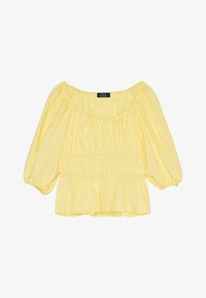 MIT RAFFUNG - Blus - yellow