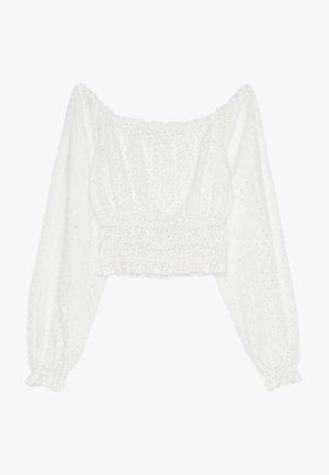 MIT CARMEN-AUSSCHNITT UND SCHWEIZER STICKEREI - Bluse - white