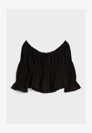 MIT CARMEN-AUSSCHNITT - Blouse - black