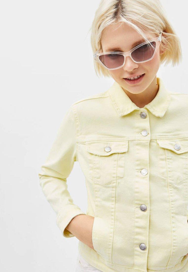 Bershka - Denim jacket - yellow