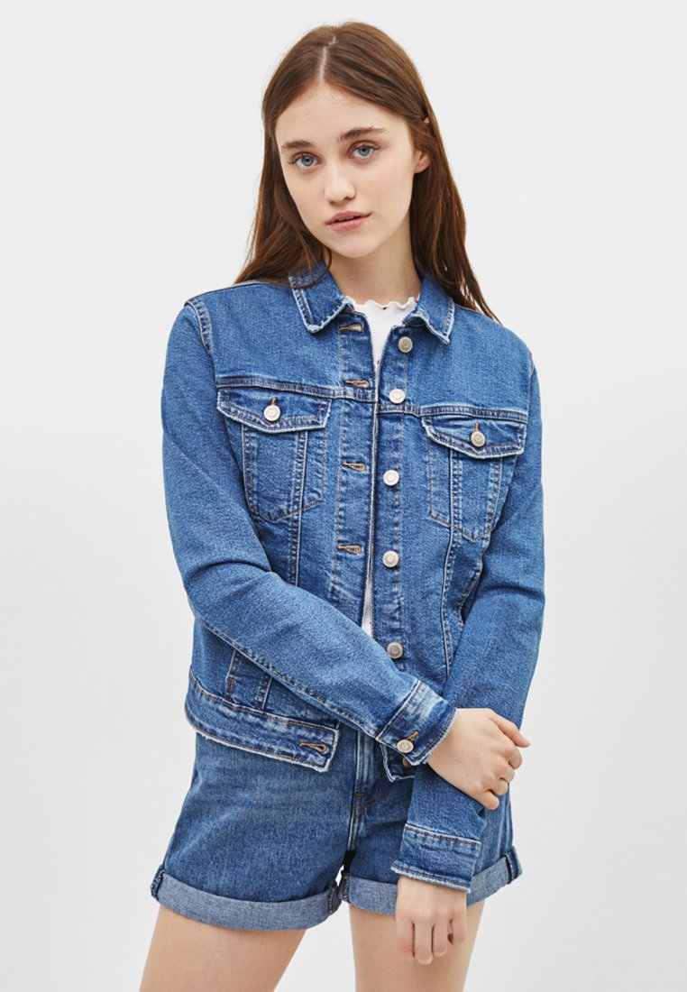 Bershka - Denim jacket - blue