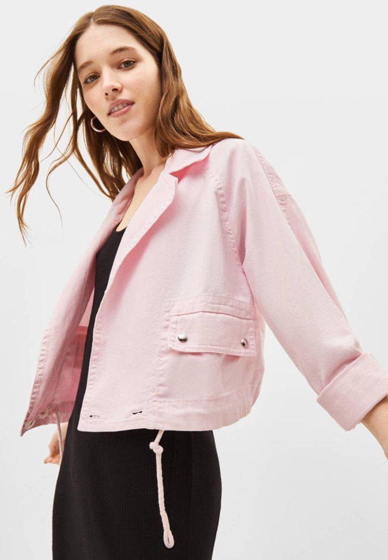 Bershka - Jeansjacke - pink