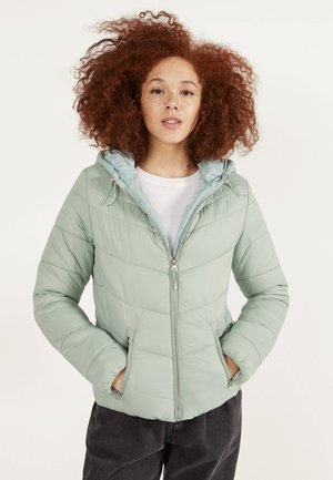 STEPPJACKE MIT KAPUZE 06210644 - Winter jacket - green