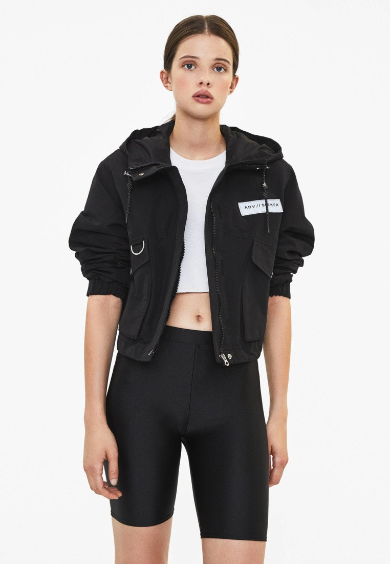 Bershka - MIT KAPUZE - Outdoor jacket - black