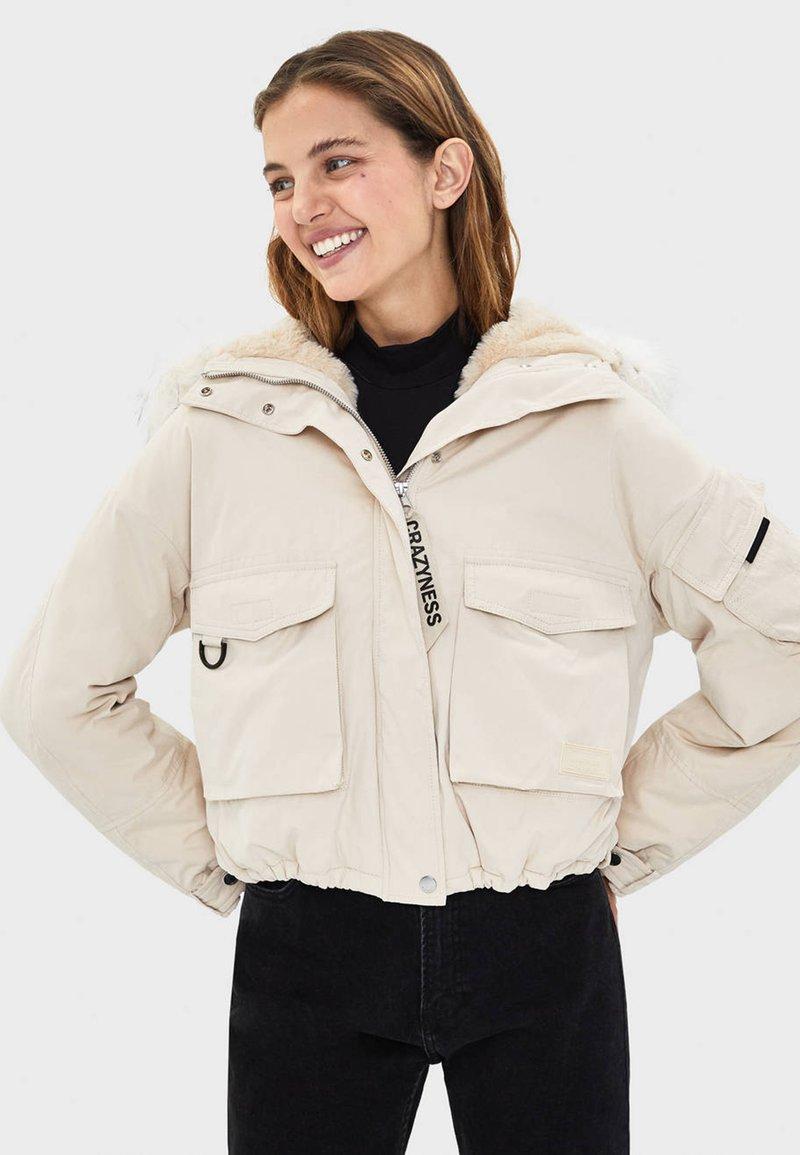 Bershka - Winter jacket - offwhite