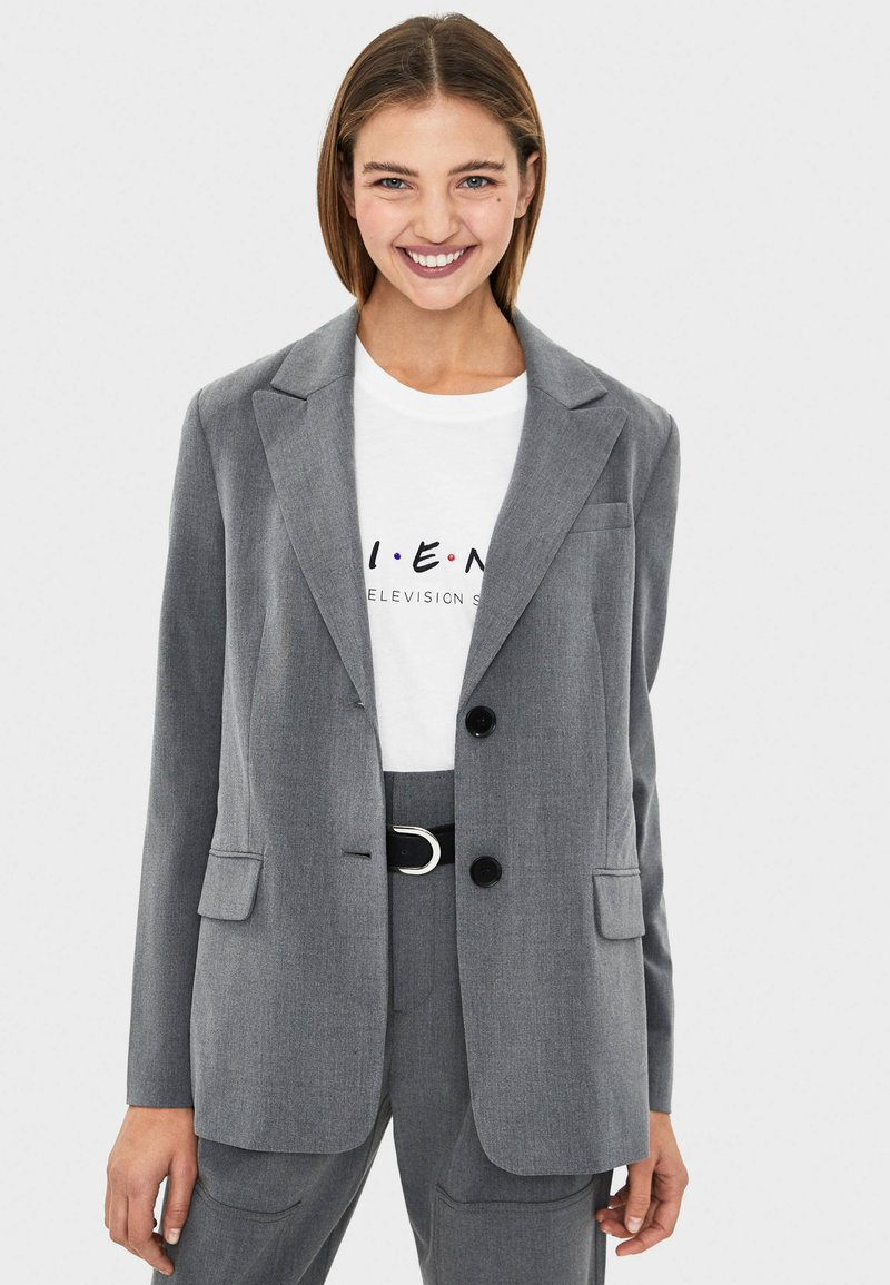 Bershka - Short coat - grey