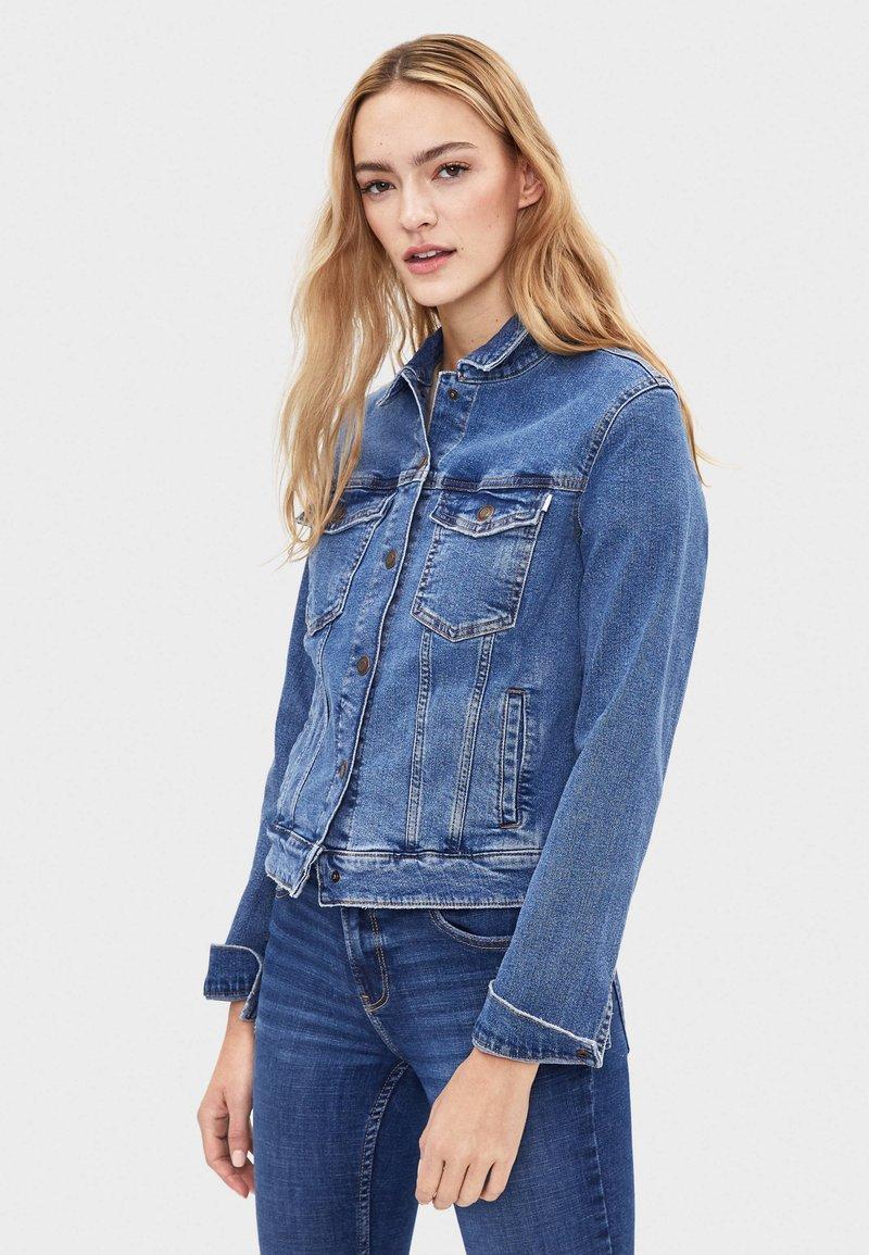 Bershka - Kurtka jeansowa - light blue