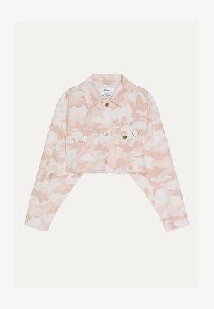 MIT GLITZER  - Giacca di jeans - pink