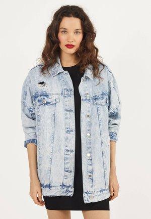 MIT RISSEN - Denim jacket - blue denim