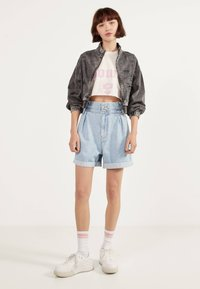 Bershka - Denim jacket - grey - 1
