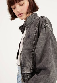 Bershka - Denim jacket - grey - 3