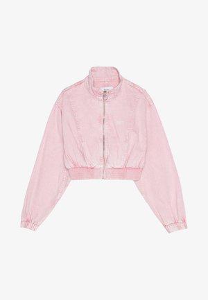 Kurtka jeansowa - pink