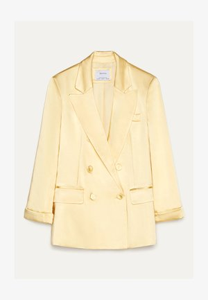 MIT SATINEFFEKT  - Blazer - yellow