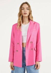 Bershka - Blazer - neon pink - 0