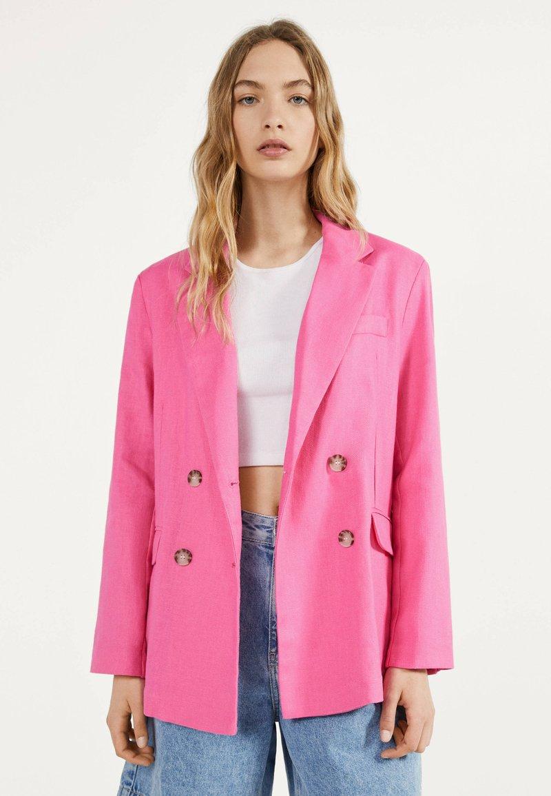 Bershka - Blazer - neon pink