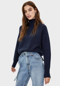Bershka - Trui - dark blue - 0