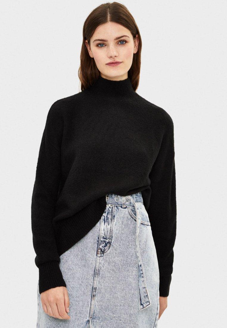 Bershka - Strikpullover /Striktrøjer - black