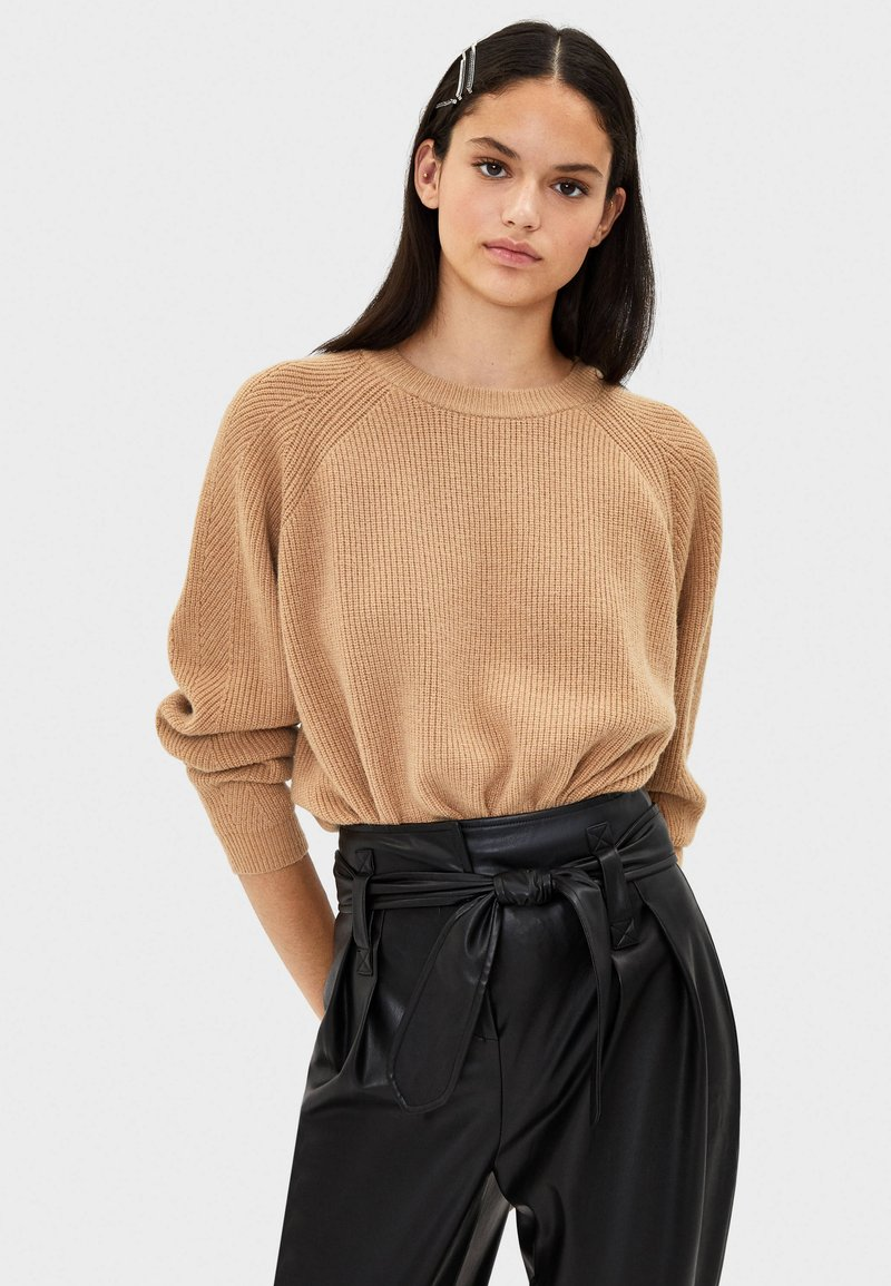Bershka - Jumper - brown