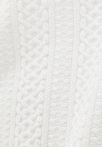 Bershka - Stickad tröja - white - 4