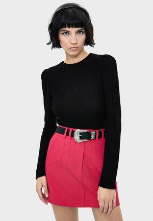SHIRT MIT BALLONÄRMELN 06830256 - Pullover - black