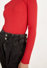 Bershka - Sweter - red - 3