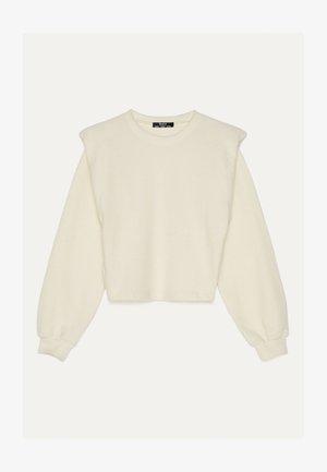 PULLOVER MIT SCHULTERPOLSTERN 01673381 - Sweter - white