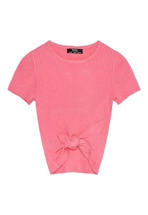 MIT ZIERKNOTEN - T-shirts print - pink