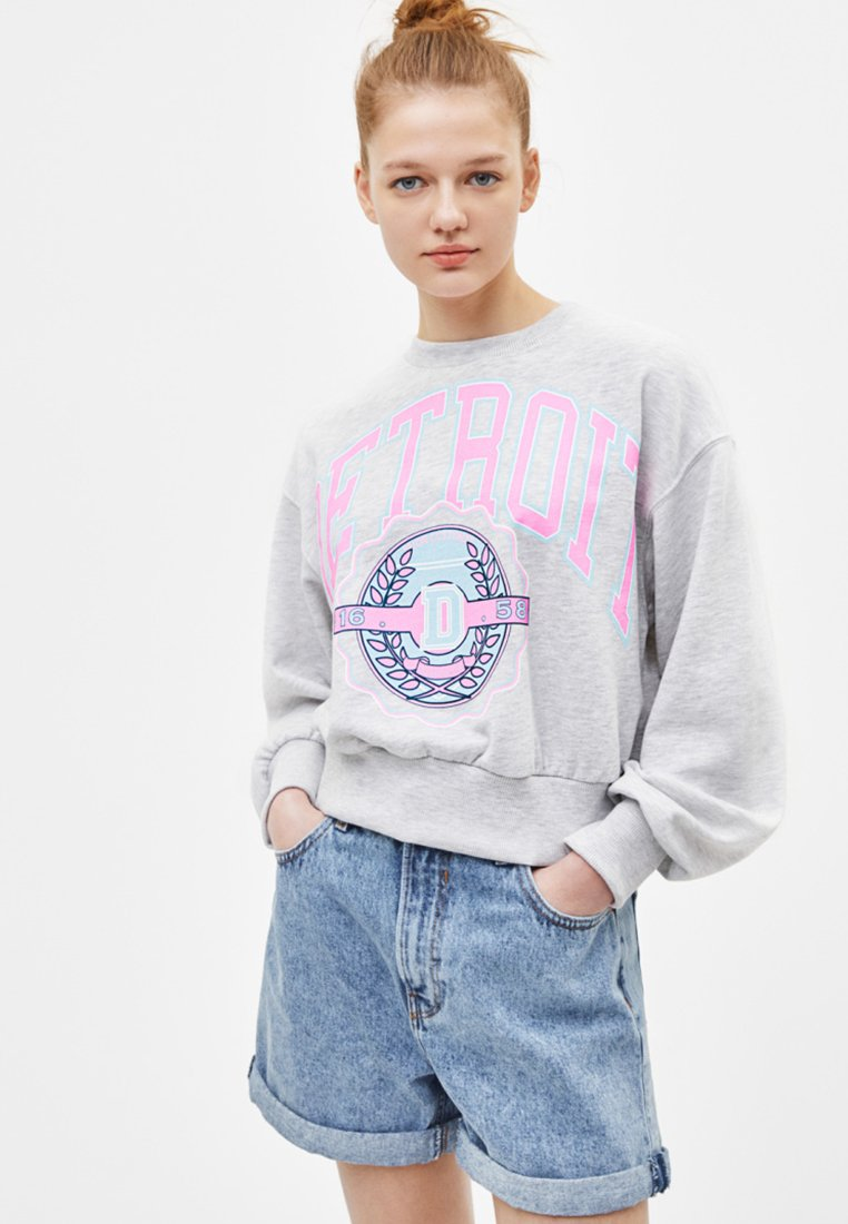 Bershka - Sweatshirt - light grey
