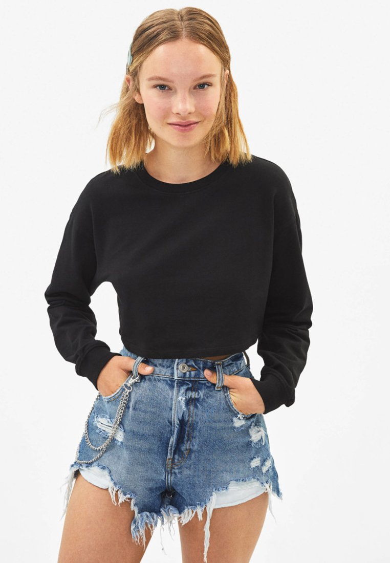 Bershka - Sweatshirt - black