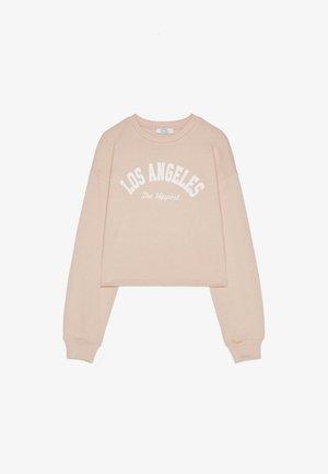 MIT PRINT - Sweatshirts - beige