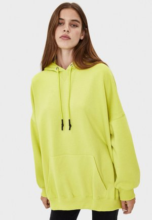 Bluza z kapturem - neon yellow