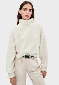 Bershka - Fleece jumper - white - 0