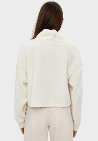 Bershka - Fleece jumper - white - 2