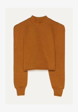 MIT ROLLKRAGEN - Sweater - stone