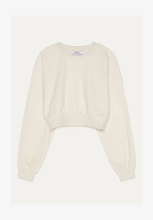 SWEATSHIRT AUS SAMT 01714443 - Sweater - beige