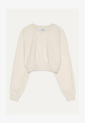 SWEATSHIRT AUS SAMT 01714443 - Sweatshirt - beige