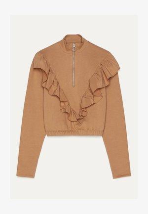 SWEATSHIRT MIT VOLANTS 01639256 - Sweater - ochre