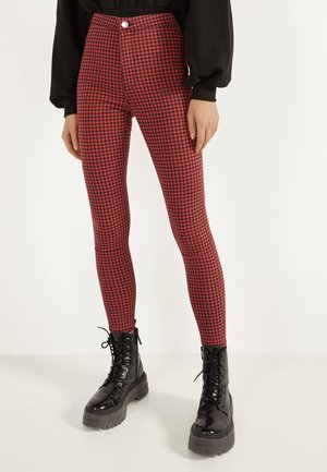 JEGGINGS MIT HOHEM BUND  - Jeggings - red