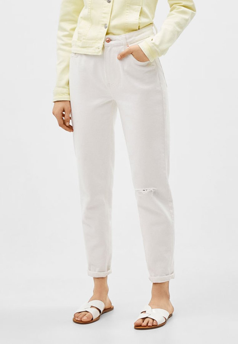 Bershka - Jeans Relaxed Fit - white
