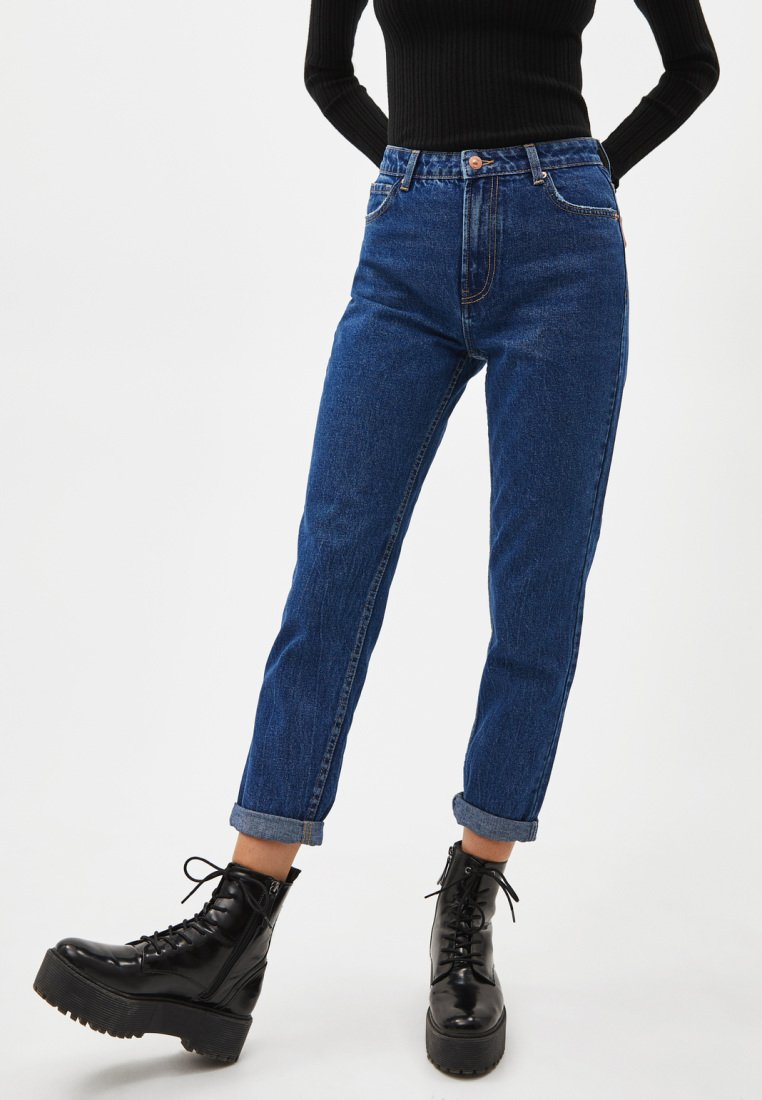 Bershka - Jeansy Relaxed Fit - blue