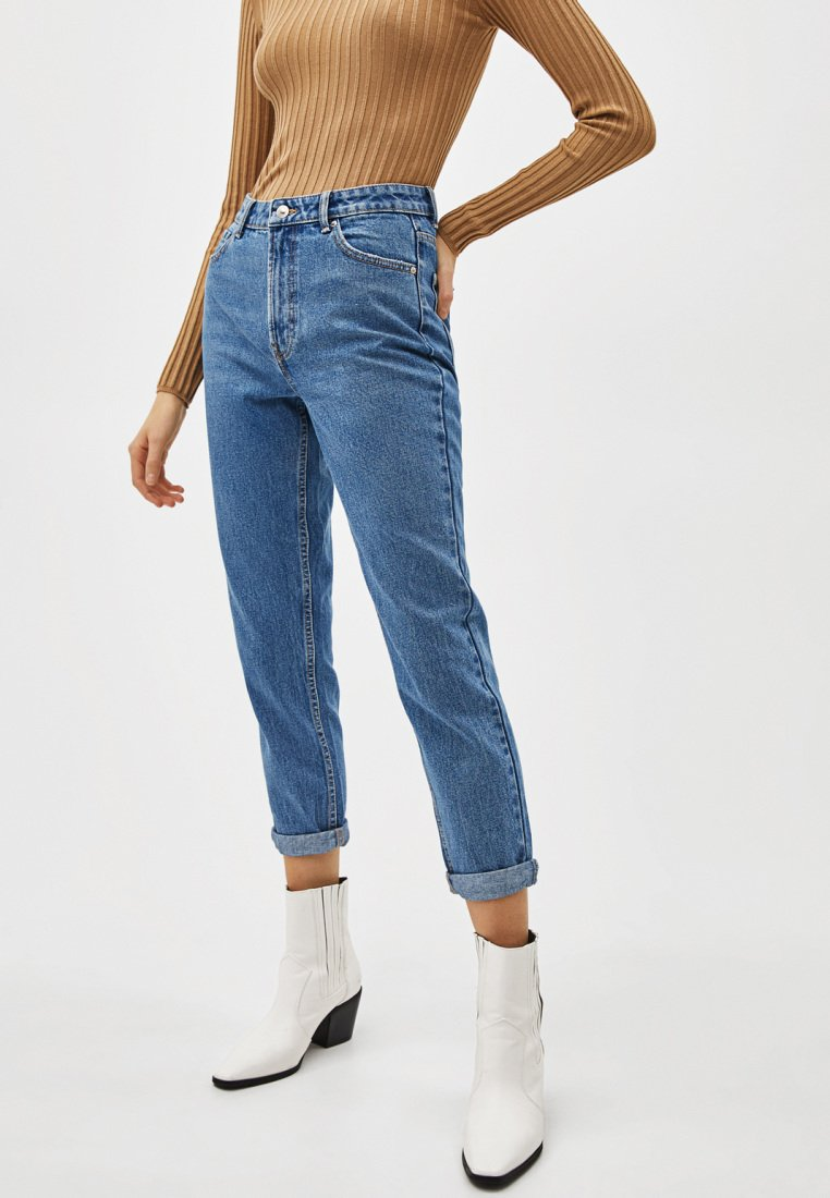 Bershka - Jean boyfriend - light blue