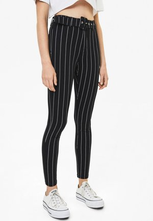 Jeggings - black/white