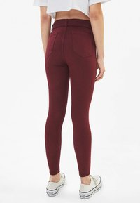 Bershka - Jeggings - bordeaux - 2