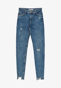 Bershka - LOW WAIST - Jeansy Skinny Fit - Blue - 5