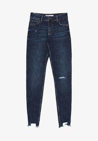 Bershka - LOW WAIST - Jeans Skinny Fit - dark blue - 5